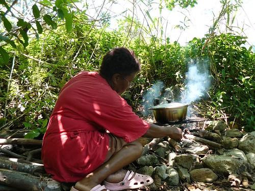 Bougna aux crevettes de Creek : Preparation #19 : cuisson