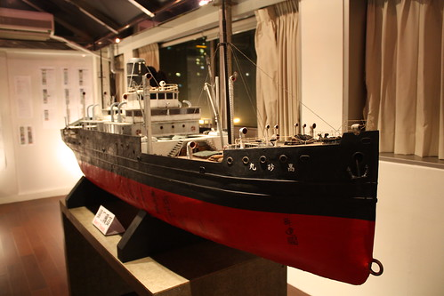 大腕的海角七號的模型船照