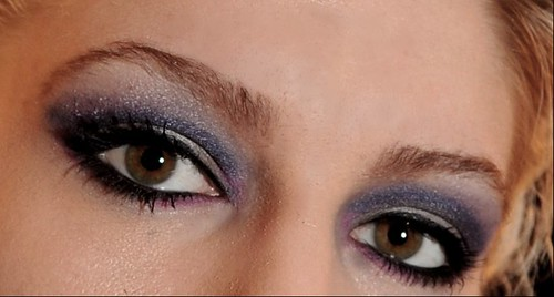 Blue black eyeshadow eyelash makeup pictures gallery