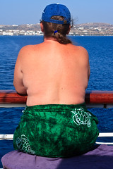 Leaving Milos IMG_6588 (SunCat) Tags: travel cruise vacation woman star clothing friend girlfriend europe all sailing ship bare bbw spouse greece naturism topless wife nudist naturist tall debbie sweetheart lover tallship mate 2008 companion sarong clipper soulmate milos optional nudism pareo necessities starclipper braless clothingoptional barenecessities confidante so