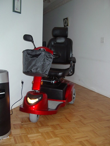 My new red 3-wheel scooter