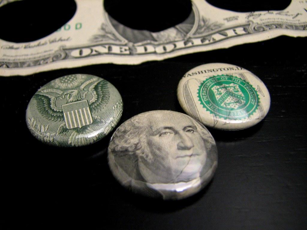 Dollar Bill Buttons by Buttonhead