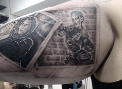 Scully & Lara Polaroid Tattoo (Rubistyle ~Amy~) Tags: tattoo polaroid lara inkwell tombraider scully xfiles halfsleeve sleevetattoo blackandgreytattoo rubistyle savepolaroid inkwelltattoo polaroidtattoo scullytattoo xfilestattoo laracrofttattoo tombraidertattoo
