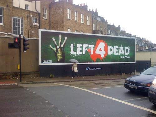 Left 4 Dead letrero londres