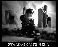 - Stalingrad's hell - (MadThing picture) Tags: world city white black danger soldier star us fight marine war lego no union rifle helmet hell picture mans churchill land second minifig grad machinegun stalin destroy urss moc stalingrad sovietic