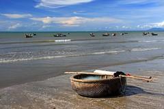 Fishing (Axel_) Tags: ocean beach strand boot coast boat fishing asia asien meer vietnam fischer kste muine mywinners
