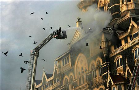 fire brigade saving taj mahal hotel