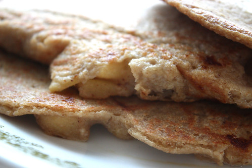 Apple Fritter Oatmeal Pancakes