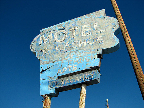 Motel Washoe neon sign - Nevada