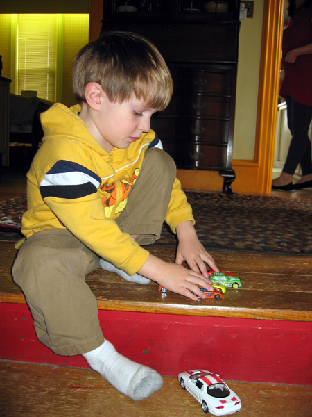 Nephew Playing with Cars (Click to enlarge)