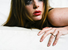 Outtake - day 3/365 (badspeller) Tags: selfportrait me eyes makeup 365 angst alix 365days blackeyemakeup