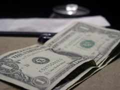Un billete de un dolar