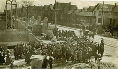 Cornerstone placement ceremony, Palm Sunday, April 12, 1908 ~courtesy St. Augustine of Hippo