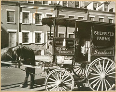 Milk wagon and old houses, Grove Street, No. 4...