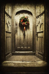 Seasons greetings.. (jetbluestone) Tags: christmas village cheshire doorway wreath welcome grosvenor aplusphoto memoriesbook