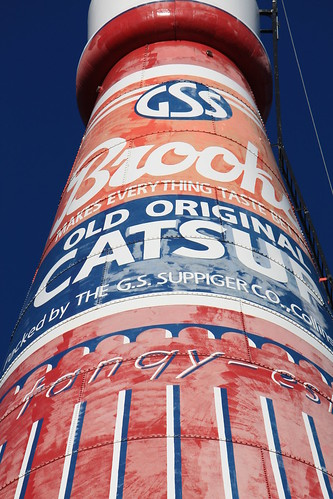 More details of the World's Largest Catsup Bottle