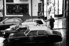 (Gustavo Minas) Tags: street bw horse cars argentina rain calle lluvia agua buenosaires candid chuva pb bn paseo carros rua reflexo cavalo coches alcorta