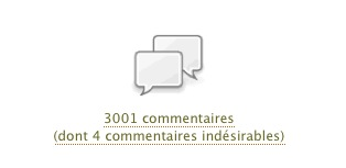 3000 commentaires