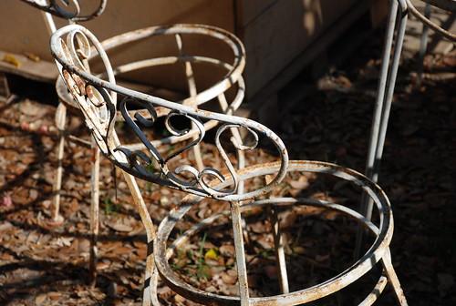 cast iron chair frame