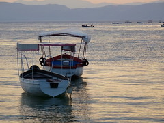 Boat on Ohrid lake (jelisaveta21) Tags: sunset lake water boat scenery macedonia ohrid lakeohrid mcct thebeautyofmacedonija