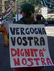 Sciopero lavoratori artigiani - 2007 (CISL dei LAGHI - Como e Varese) Tags: como cisl