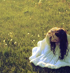 56/365. (karrah.kobus) Tags: light white me girl loss field grass self hair fur petals dress natural skirt 365 dandelions missed