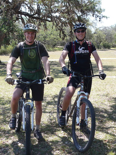 Greg and Nick, back from biking the trails