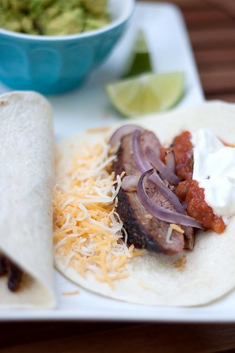 Chile-Spiced Steak & Grilled Onion Tacos | Dainty Chef
