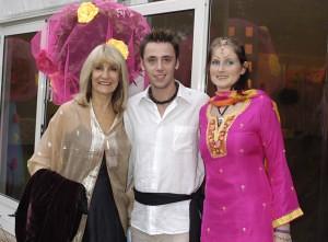 Lynn Faulds Wood with best dressed lady Tascha & Baz