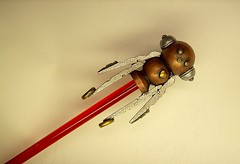 Robot Rocket Boy Cane with Wood Top Sculpture and Clear Ruby Red Walking Stick 3 (Builders Studio) Tags: wood fiction people sculpture man art classic statue metal trek toy person star robot punk comic technology geek mechanical tech metallic space painted machine artificial science retro steam nasa replica ia figure scifi pulp wars figurine android prop mecha droid geekery bot mech robo automaton steampunk robotic cyclon