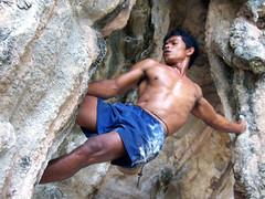 100_5793edit (mandalorianiron) Tags: mountain hot male guy beach princess muscle climbing thai bouldering krabi nang shritless