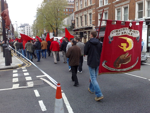 May Day march in Holborn, London
