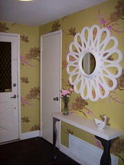 Entry Way - After #1 (monicas822) Tags: wallpaper mirror mod cole son landing strip chinoiserie entry vestibule apartmenttherapy
