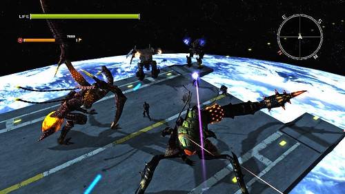 These are giant bugs fighting giant robots in space, people!