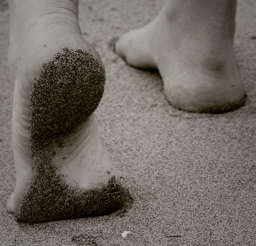Sand on my feet!