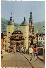 Heidelberg postcard 1954