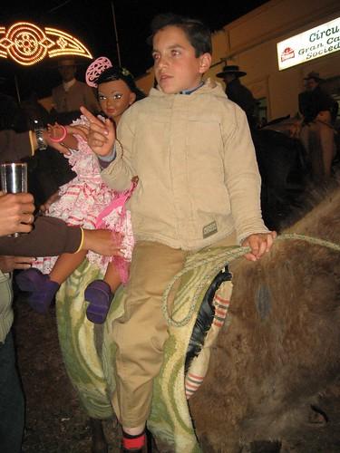 A burro con jineta