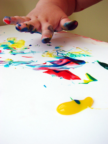 finger painting.
