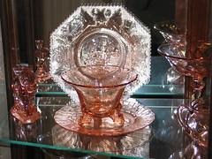Orange Heisey glass