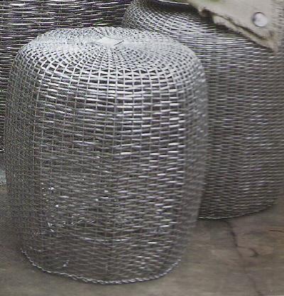 Rian Rae woven aluminum stools