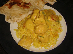 Chicken Pasanda (not full portion) from Delta Indian Takeaway, Edinburgh
