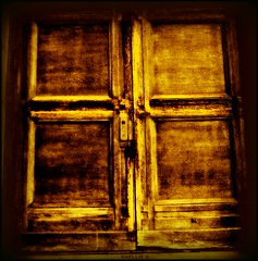 a gold cross door (ziggywiggy1(SHELLIE B.)) Tags: nyc green buildings doors decay manhattan churches streetscenes worldclass blueribbonwinner supershot flickrcolour mywinners abigfave royalgroup trashbit digitaleloquence worldtrekker digifotoproaward throughyoureyestoours showmemagic sacredimagery