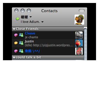 Adium with status messages