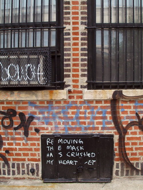 poem on a wall, Manhattan, NYC
