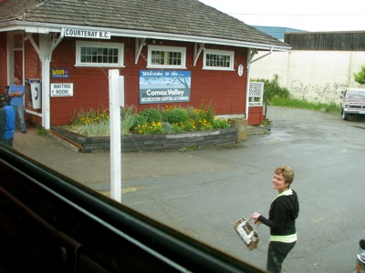 VIA Rail Station in Courtenay, BC