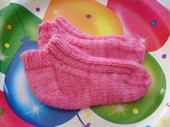 pink baby socks-Peyton
