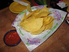 On The Border: Chips and salsa