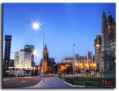 Albert Docks Liverpool (Muzammil (Moz)) Tags: sunset liverpool waterfront merseyriver merseyside albertdocks atlantichotel muzammilhussain liverbirdsbuilding ferrytermainals