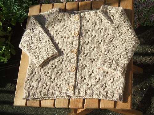 Little flower raglan cardigan