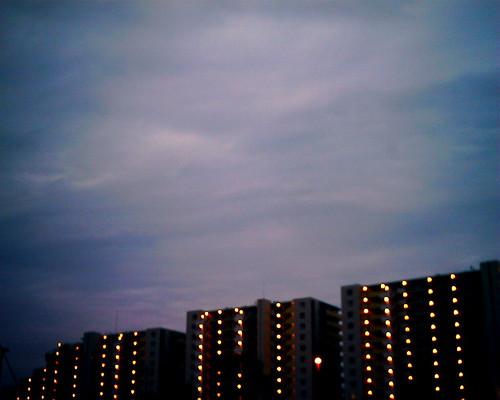 【写真】VQ1005で撮影したたそがれ時の空